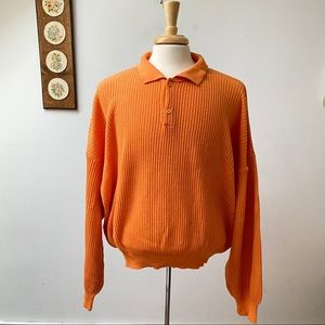 Vintage Ferrari Made In Italy Ribbed Knit Sweater